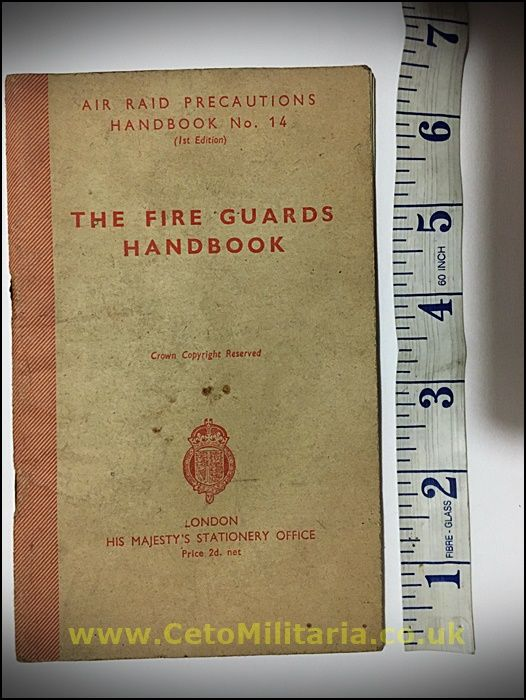 The Fire Guards Handbook 1942