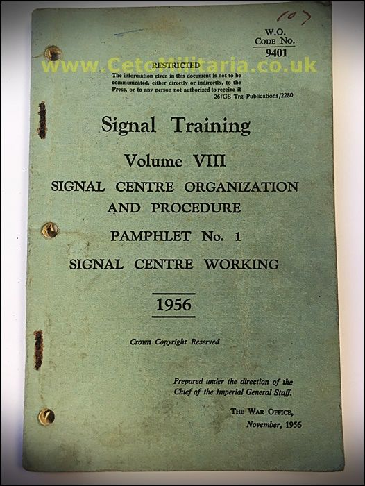 Signal Training, Signal Centre Working 1956