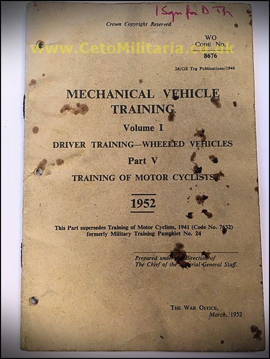 MV Training, Training of Motor Cyclists, 1952