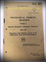 MV Training, Training in Servicing & Documentation 1952
