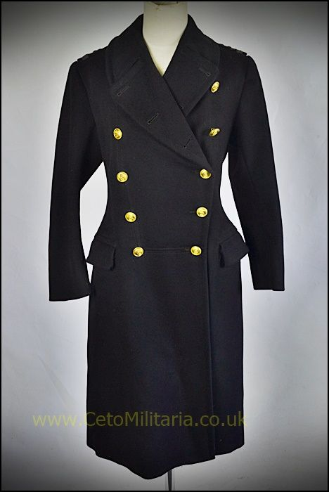 WRNS Greatcoat, 2nd Officer WW2 (6/8)