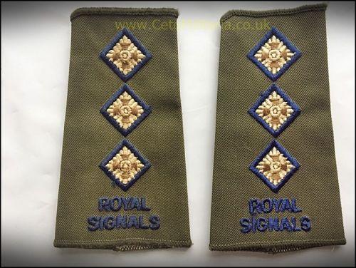 RankSlide OG, Royal Signals Capt (Pair)