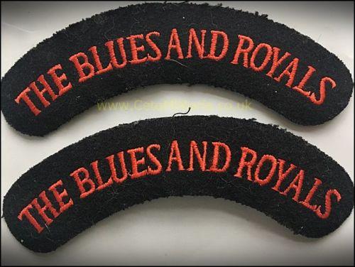 Shoulder Titles, Blues & Royals