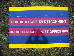 Sign - BFPO 686 Postal & Courier Det, Metal.