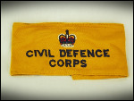 Civil Defence Corps armband, QC.