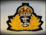 RN Officer Kings Crown Cap Badge (Repro)