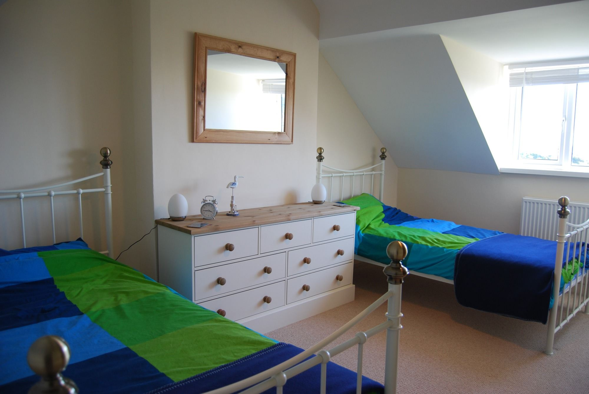 bedroom 2 (upstairs 2 single beds)