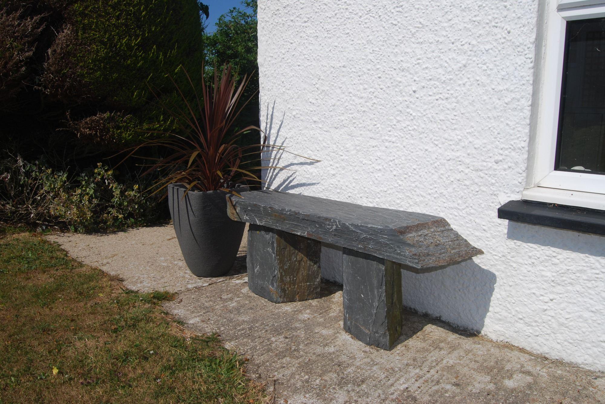 slate bench