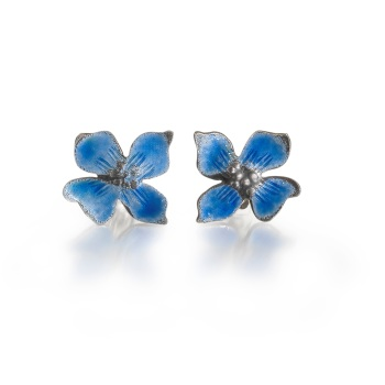 Enamel Hydrangea Earrings