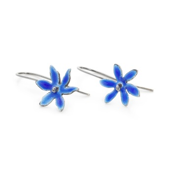 Enamel Star Flower Earrings