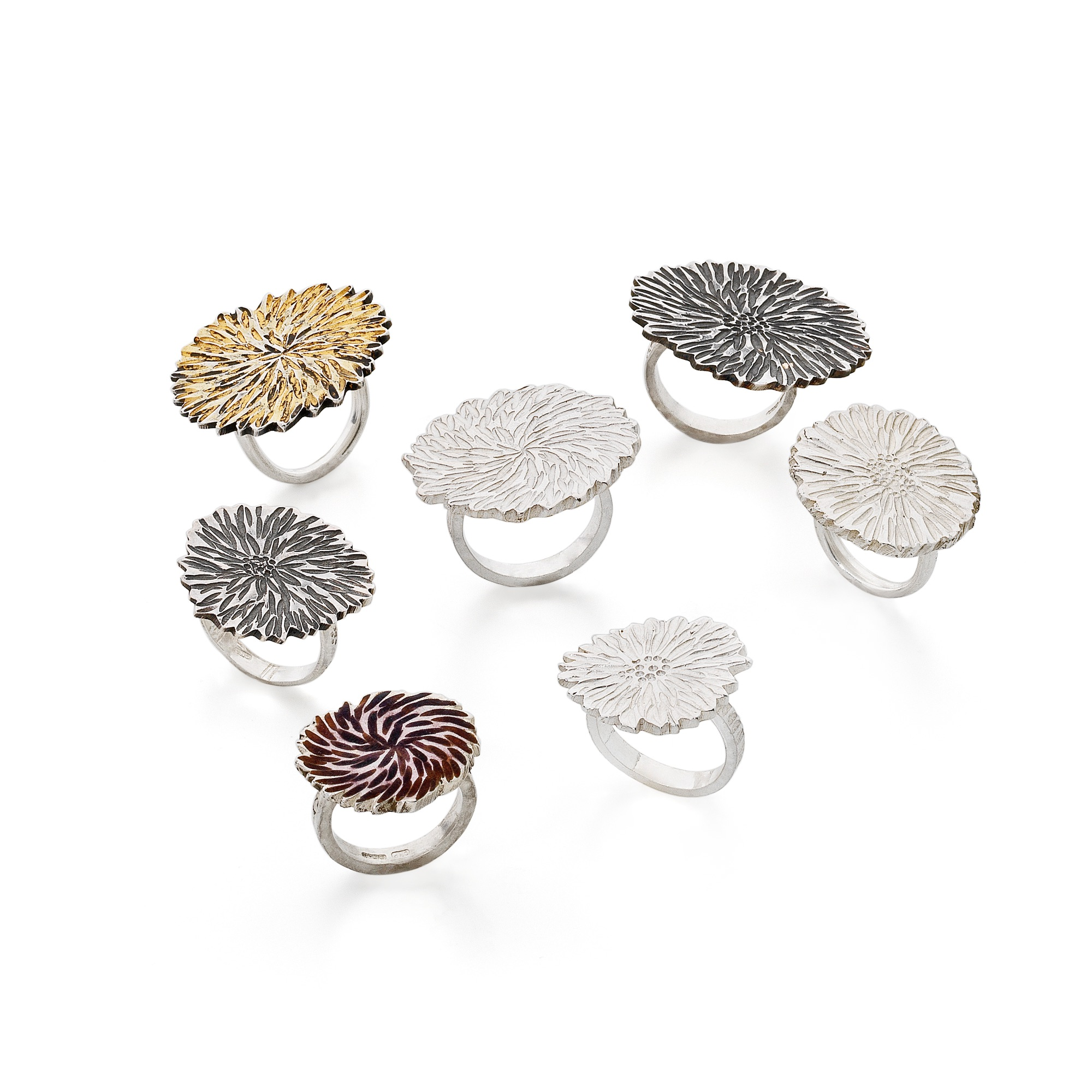 statement dahlia rings cathy newell price