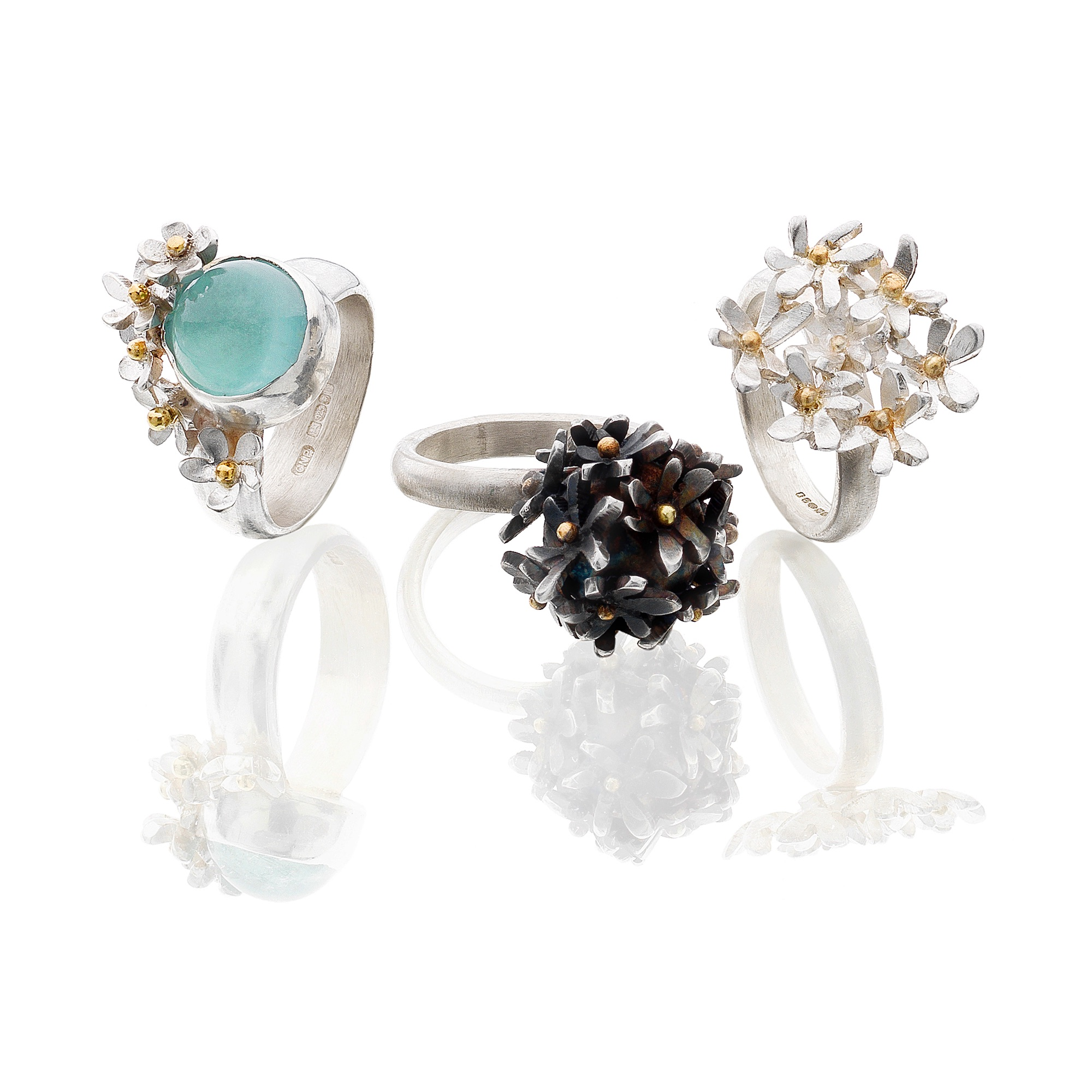Cathy Newell Price Flower Bomb Rings