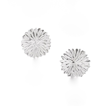 Silver Dahlia Stud Earrings
