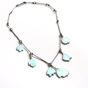 Enamelled Petal Necklace