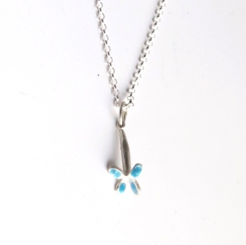 Light Blue Flower Necklace