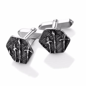 Silver Seed Head Cufflinks