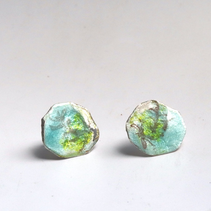 Looking up to The Sky Silver Earrings