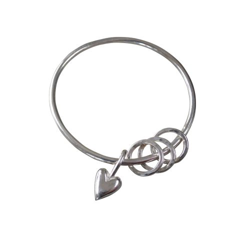 Heart Bangle with Loops