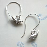 Bird Earrings on Hooks