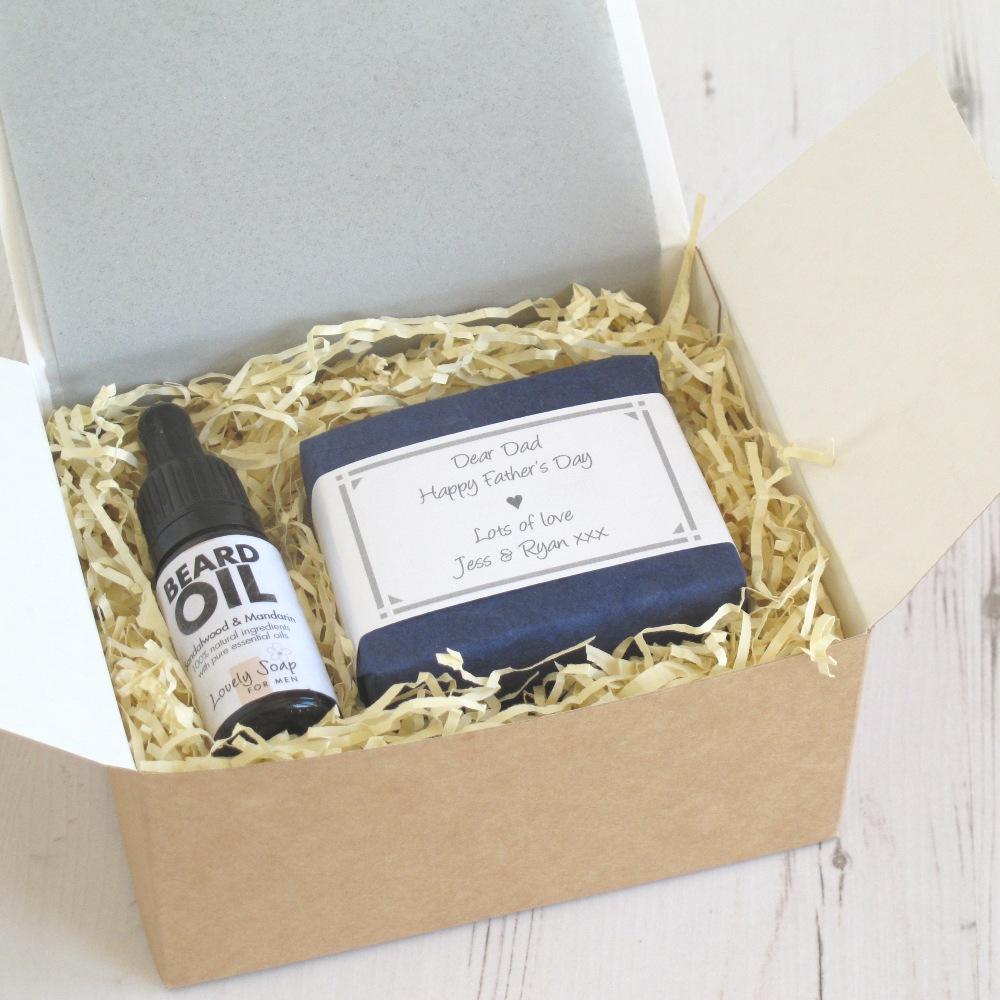 Personalised Men's Grooming Gift Set