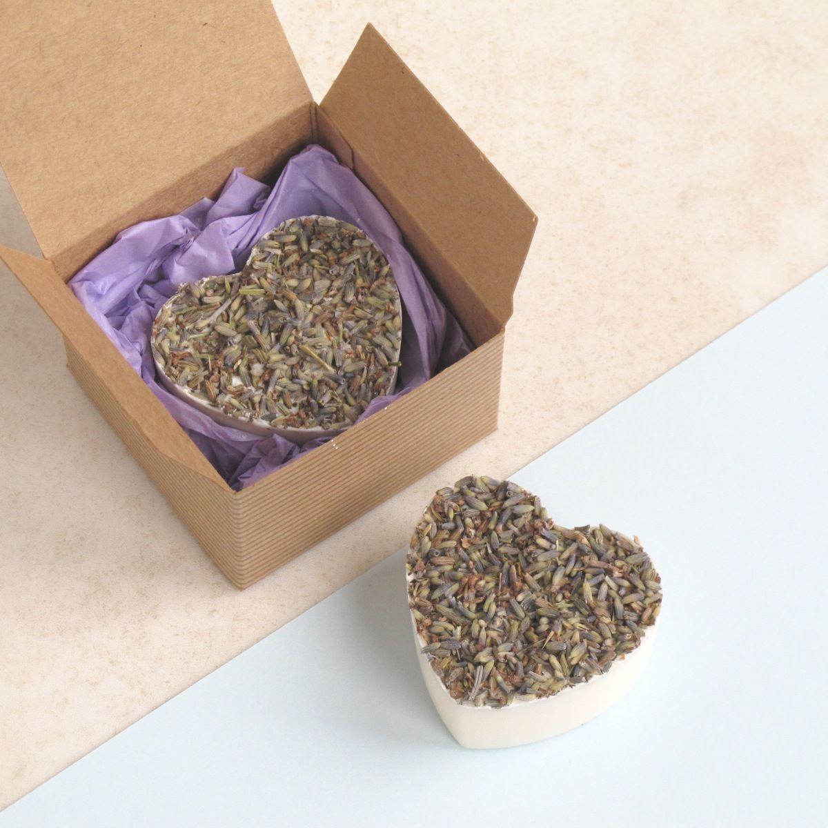 Wild Lavender Heart Soap by Lovely Soap Company