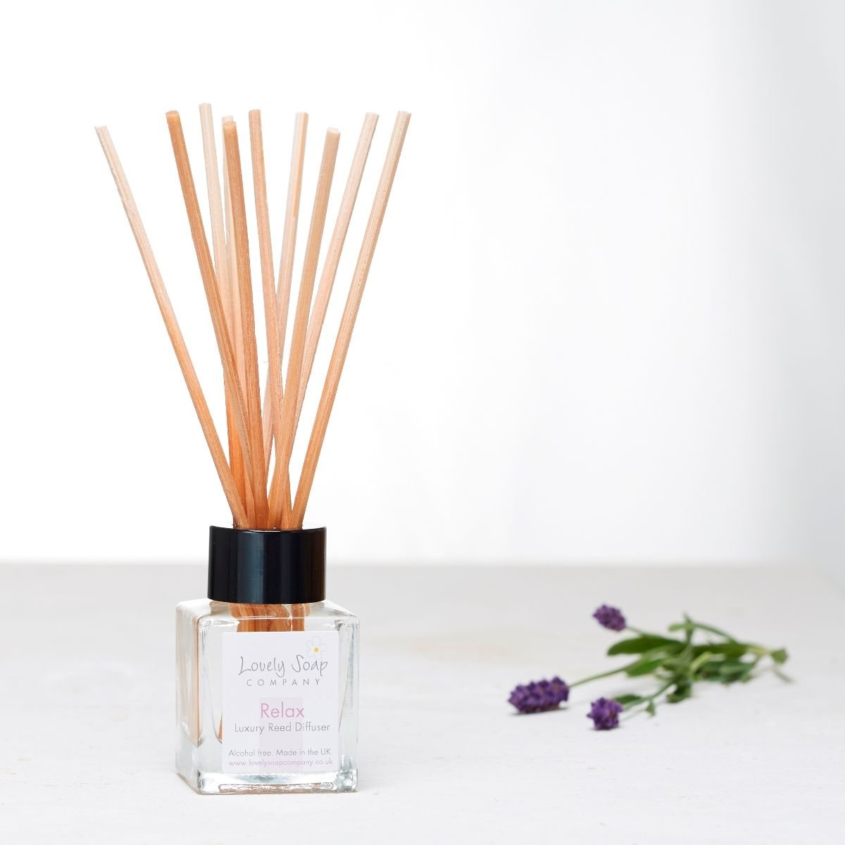 Relax aromatherapy reed diffuser by Lovely Soap Company