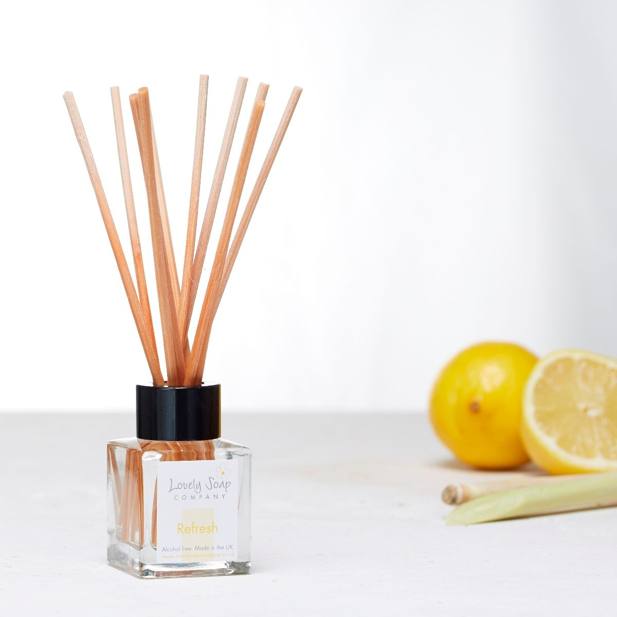 Refresh aromatherapy reed diffuser by Lovely Soap Company