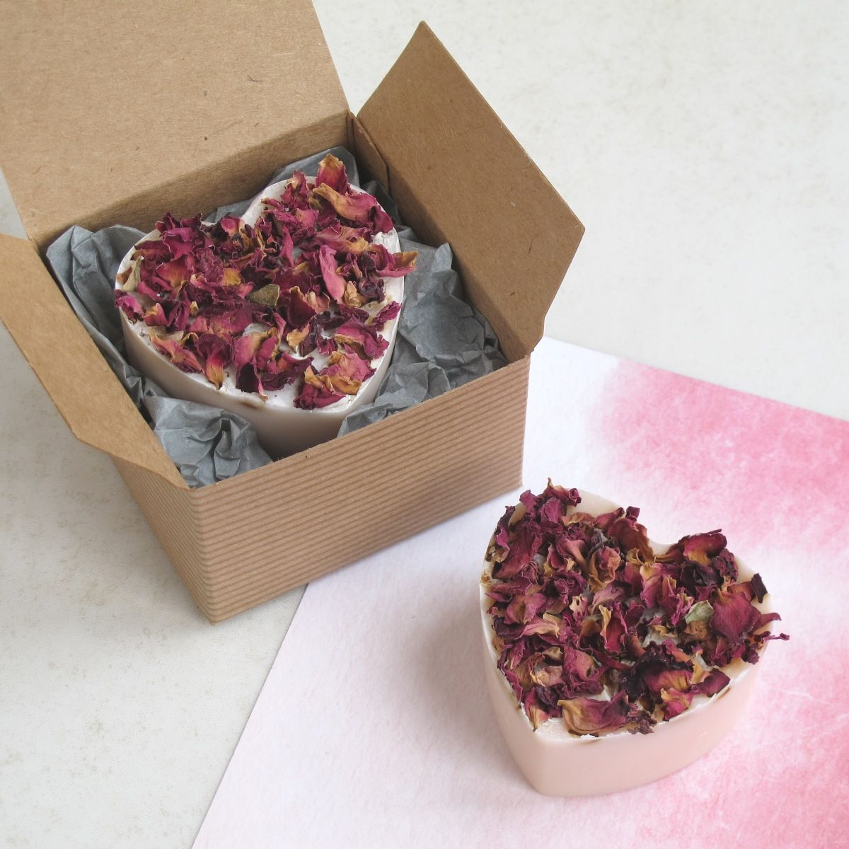 Pink Gin Heart Soap by Lovely Soap Company