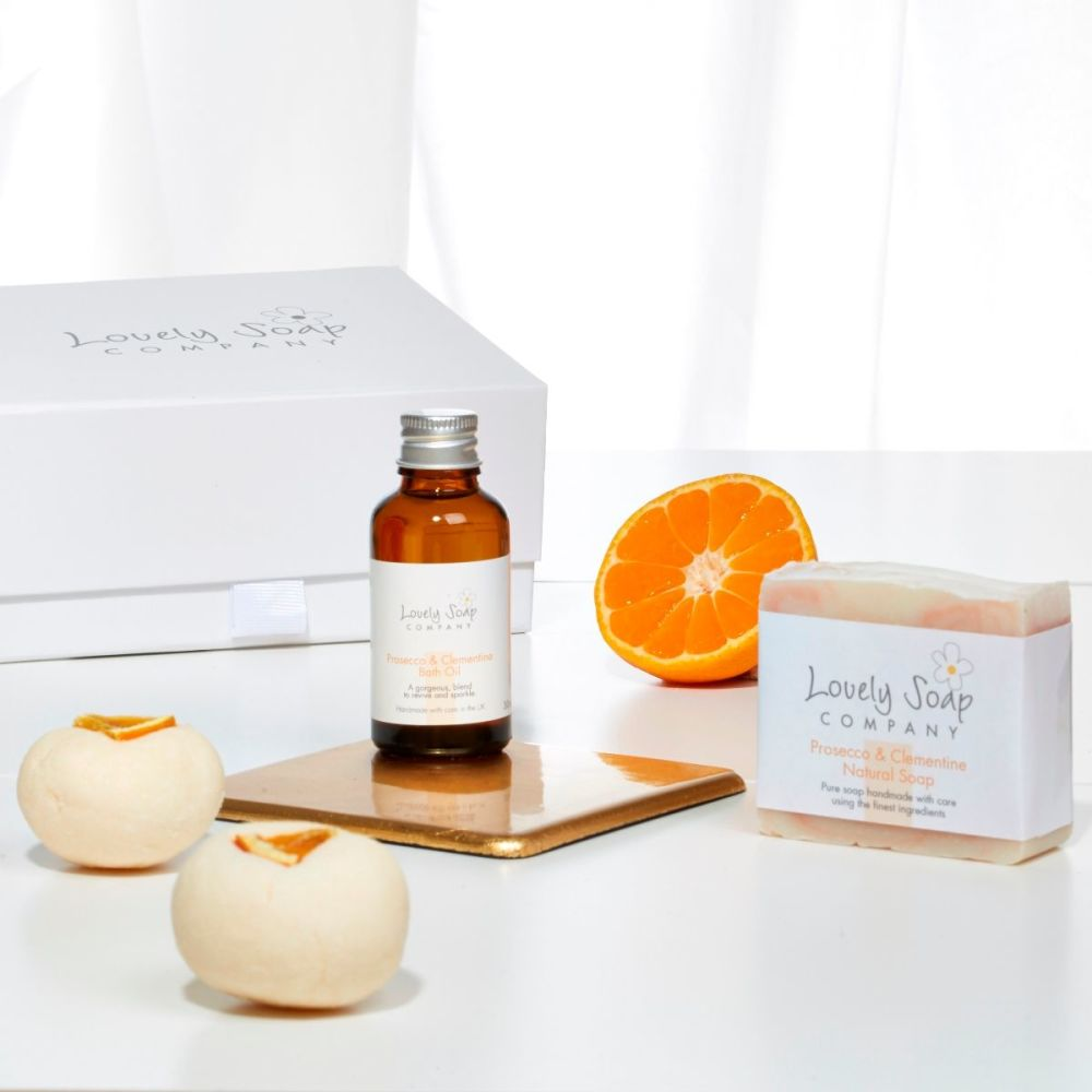Prosecco Pamper Collection by Lovely Soap Company