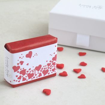 Personalised Romantic Hearts Gift Soap