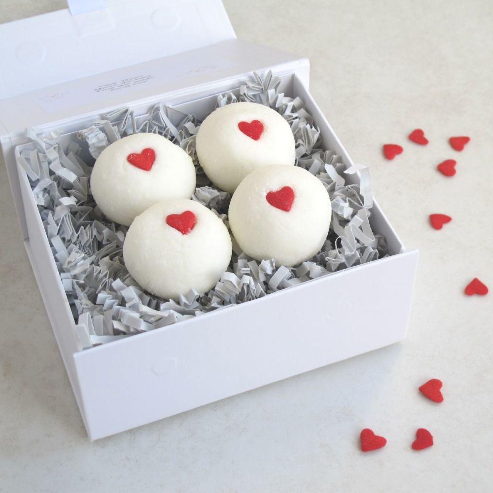 Valentine Hearts Bath Truffles Gift Set by Lovely Soap Company