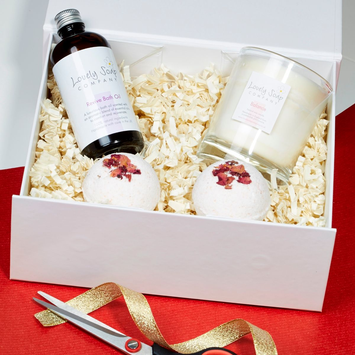 create your own reviving pamper hamper with Lovely Soap Company