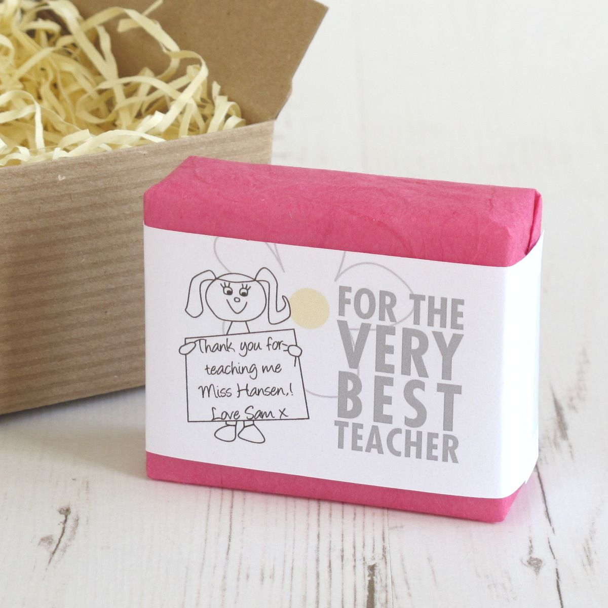 teacher thank you gift ideas personalised soap and bath gift sets