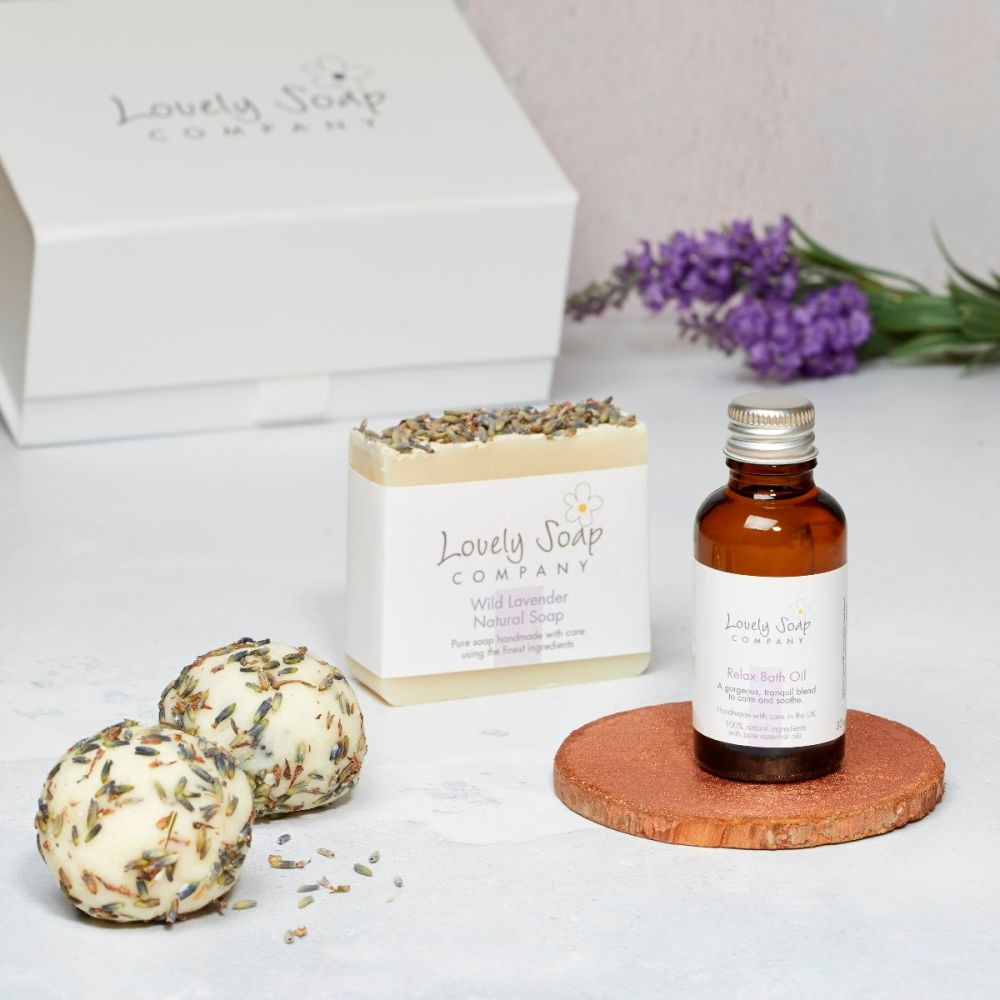Relaxing Aromatherapy Pamper Collection by Lovely Soap Company
