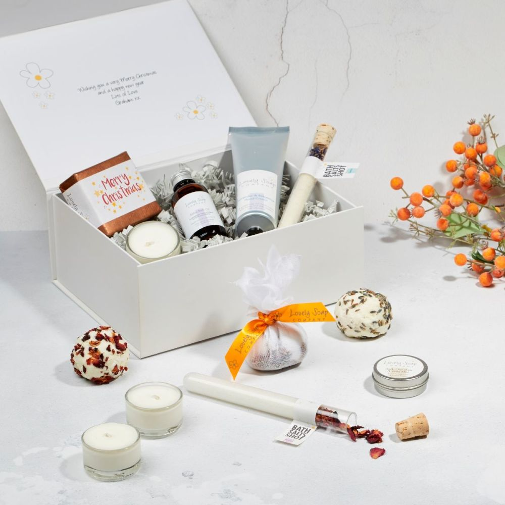 Twelve Days of Christmas Pampering beauty advent gift by Lovely Soap Compan