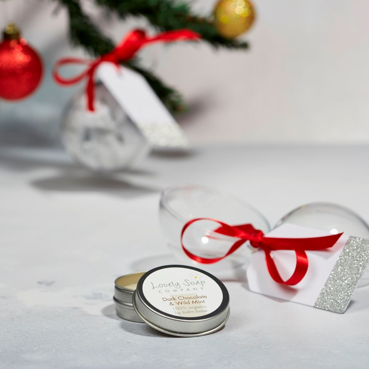 chocolate lip balm bauble  stocking filler xmas gift under £10