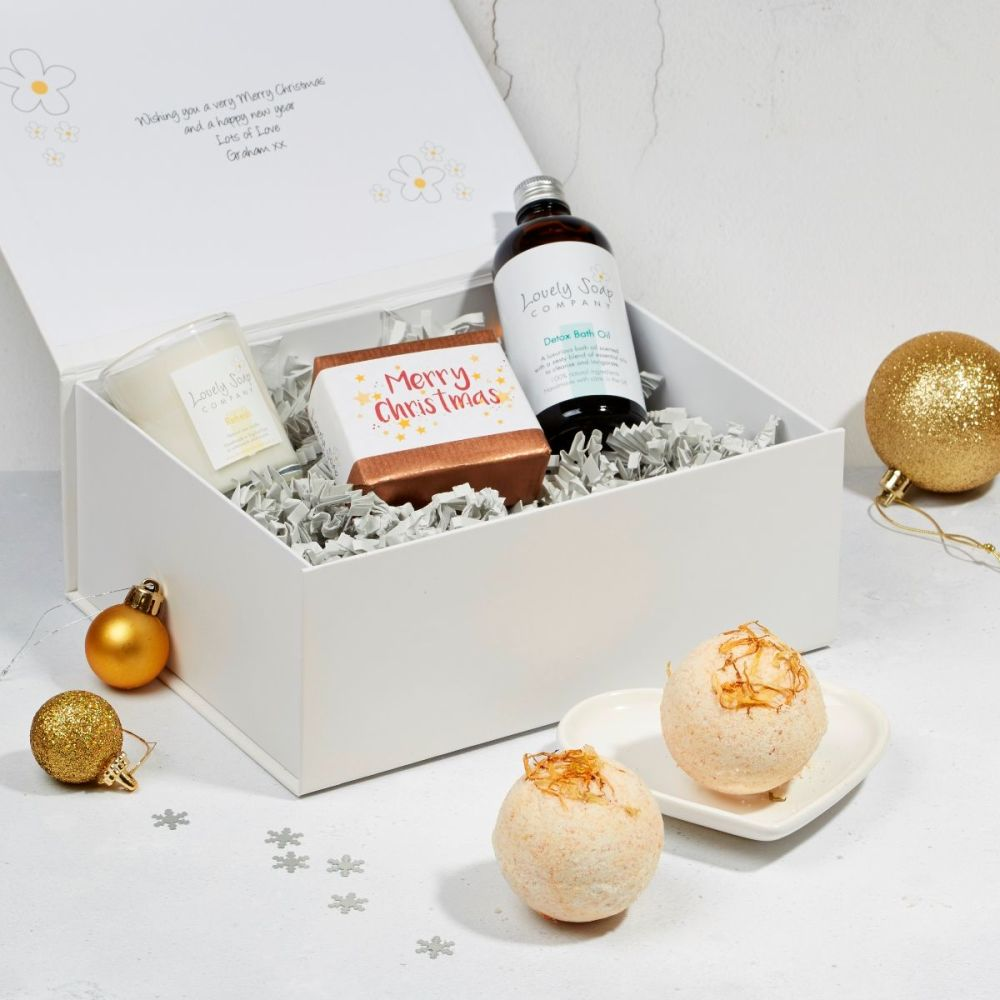 Christmas Pamper Hamper in Detox scent option by Lovely Soap Company