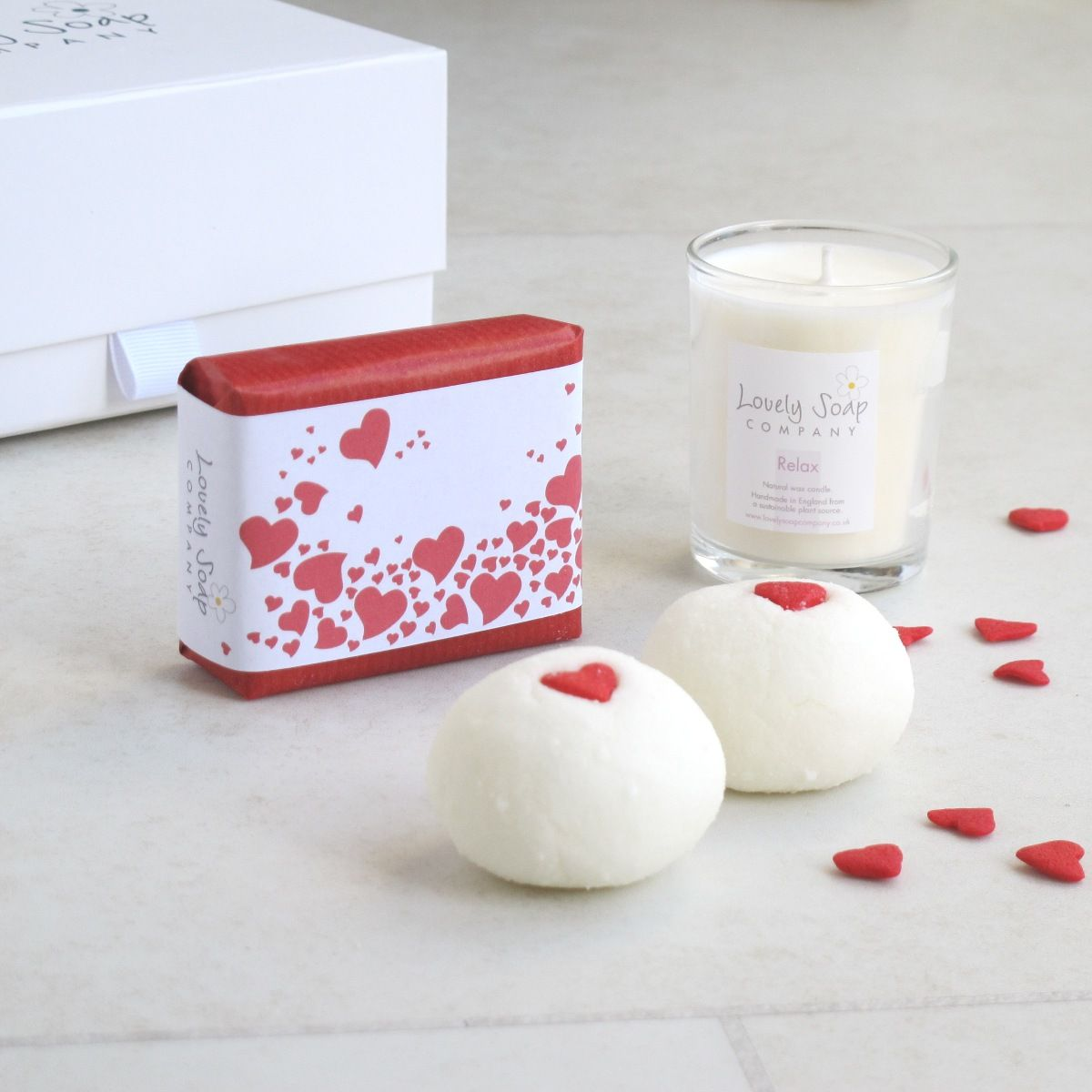 Valentine's Day gift ideas personalised soap and bath gift sets