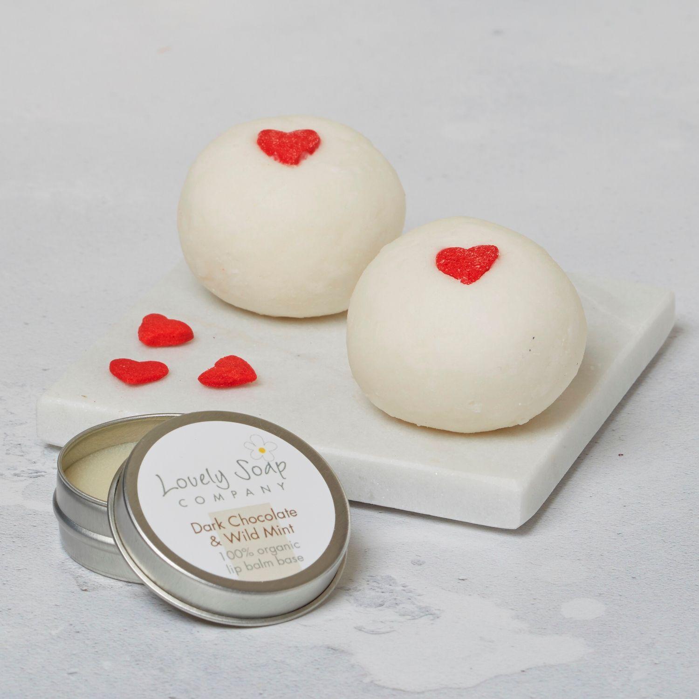valentine bath gift romantic pamper gift heart bath set