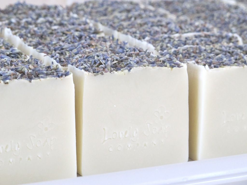 natural handmade lavender soap Lovely Soap Company