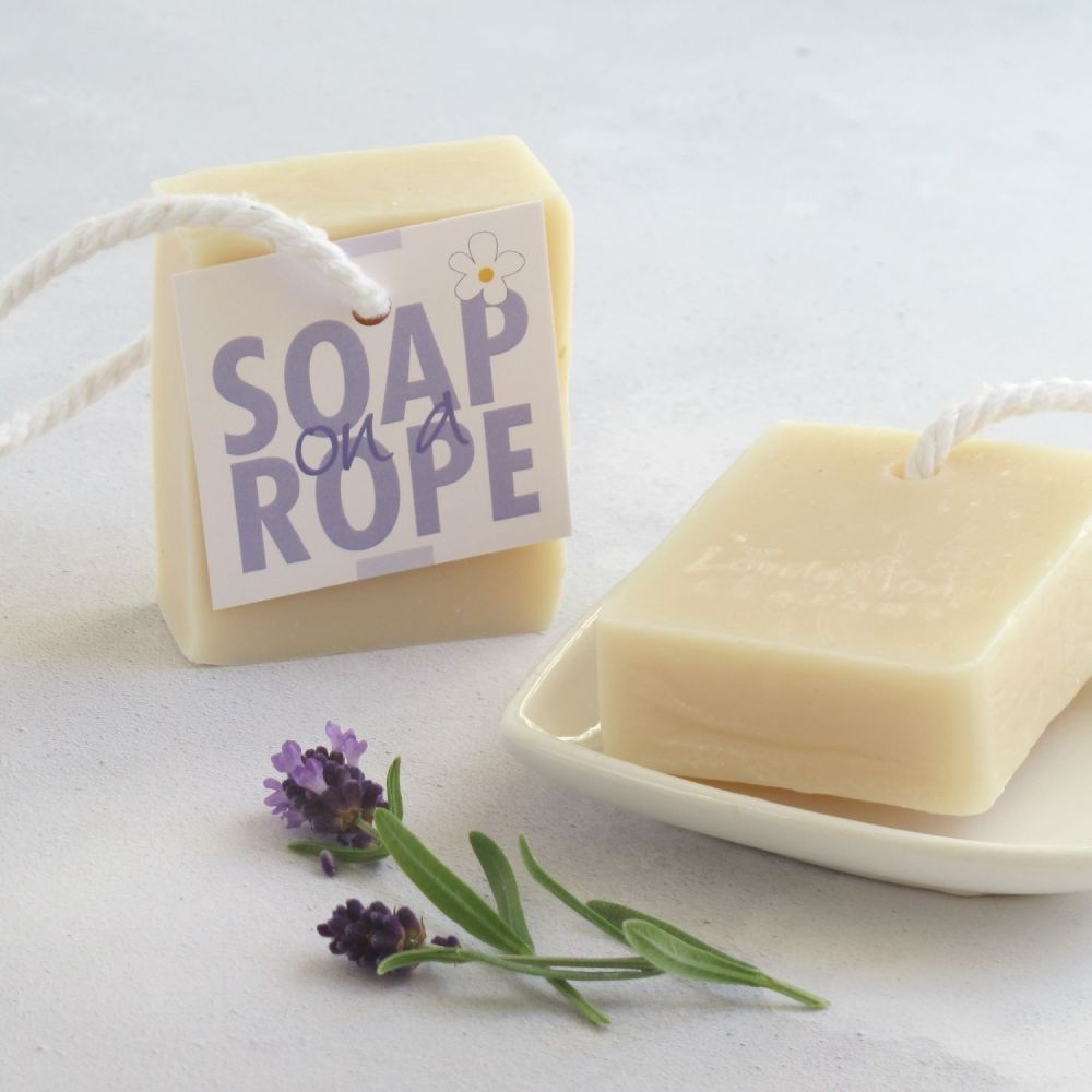 100% natural Lavender Soap on a Rope by Lovely Soap Company