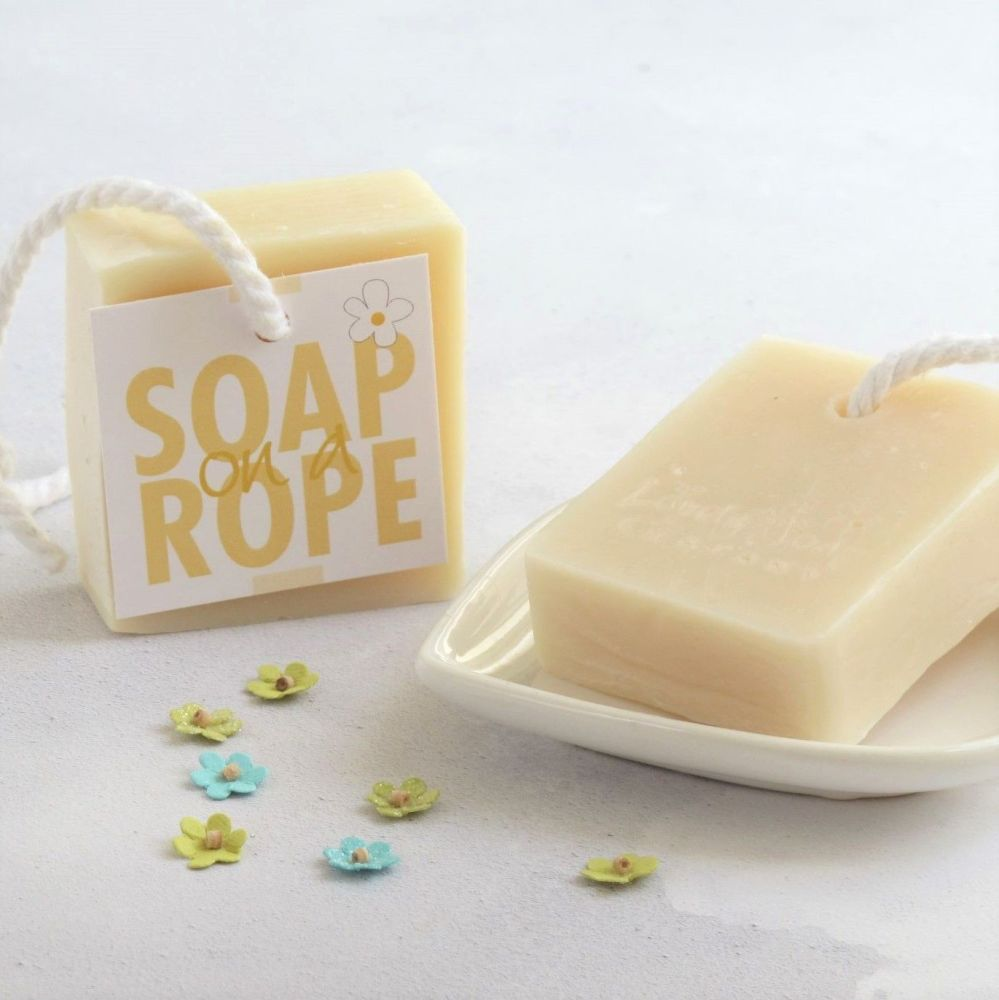 Grapefruit & Lemongrass Soap on a Rope by Lovely Soap Company
