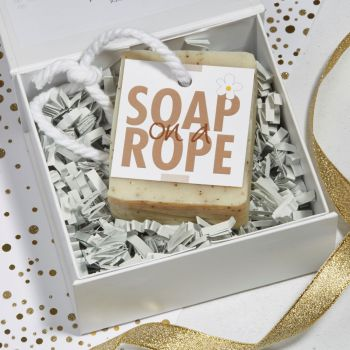 Personalised Coffee Scrub Soap on a Rope Gift