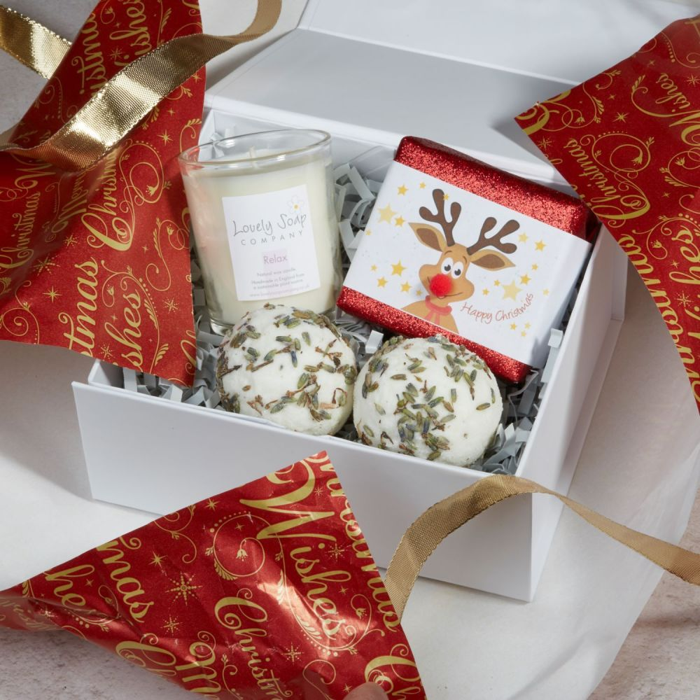 Christmas Pamper Gift Set by Lovely Soap Company