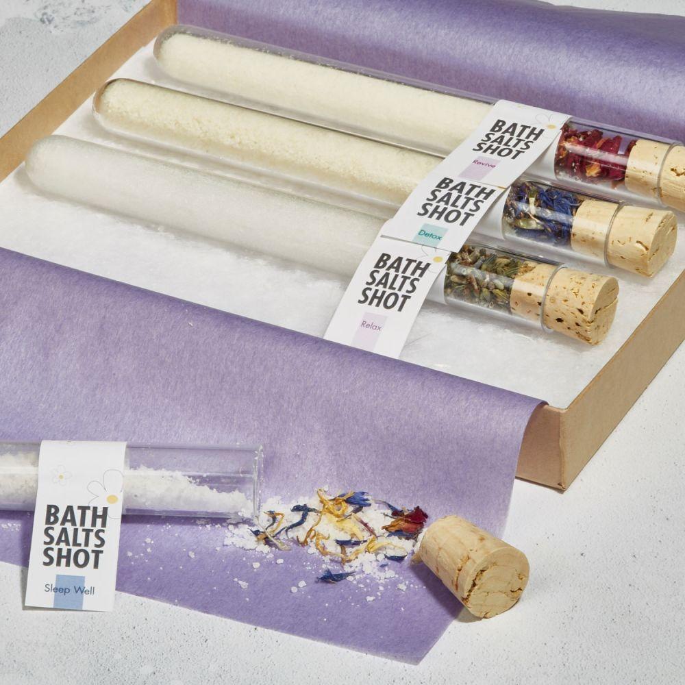 Aromatherapy Bath Salts Shots Gift Set