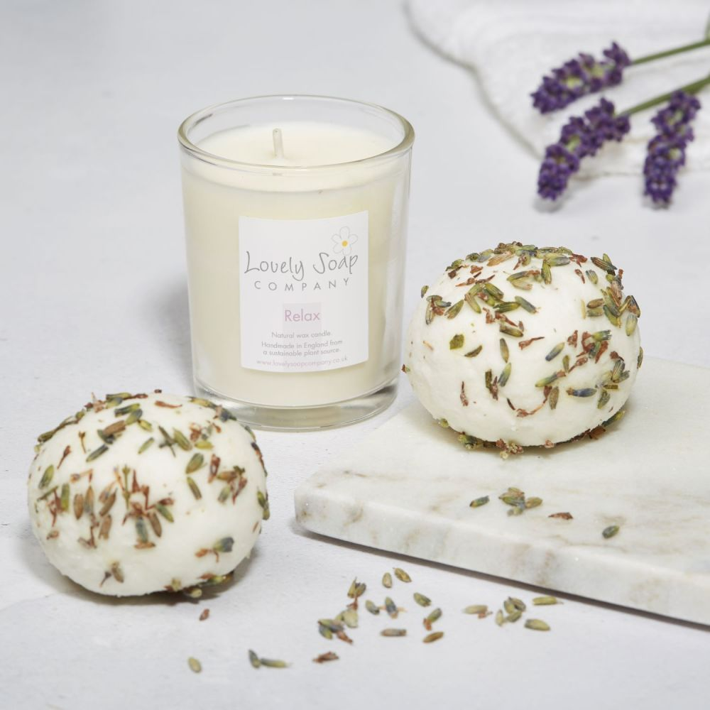 Relaxing Bathtime Pamper Gift Set by Lovely Soap Co