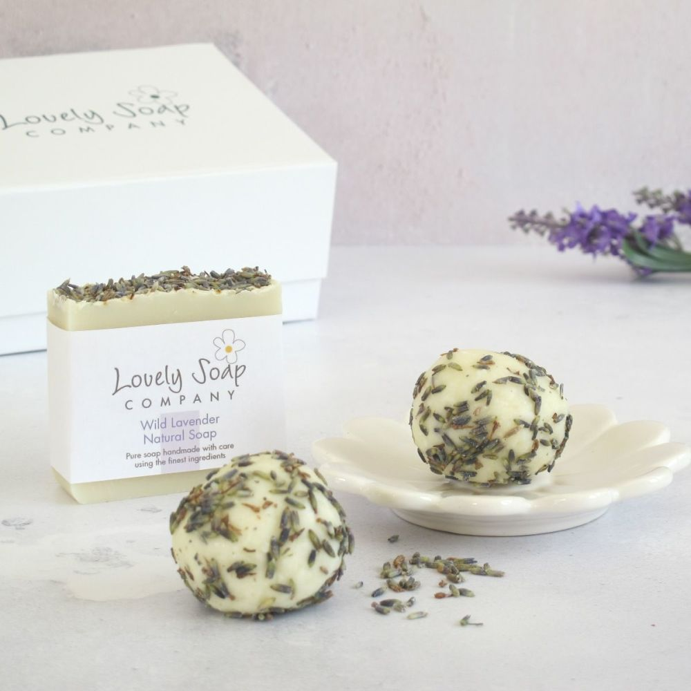 Relaxing Lavender Bathtime Bliss Gift Set by Lovely Soap Company