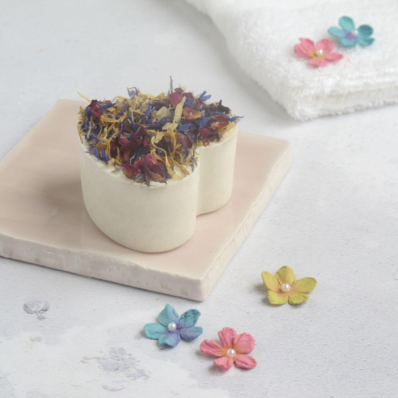 lavender and bergamot handmade natural vegan heart shaped soap by Lovely Soap Co