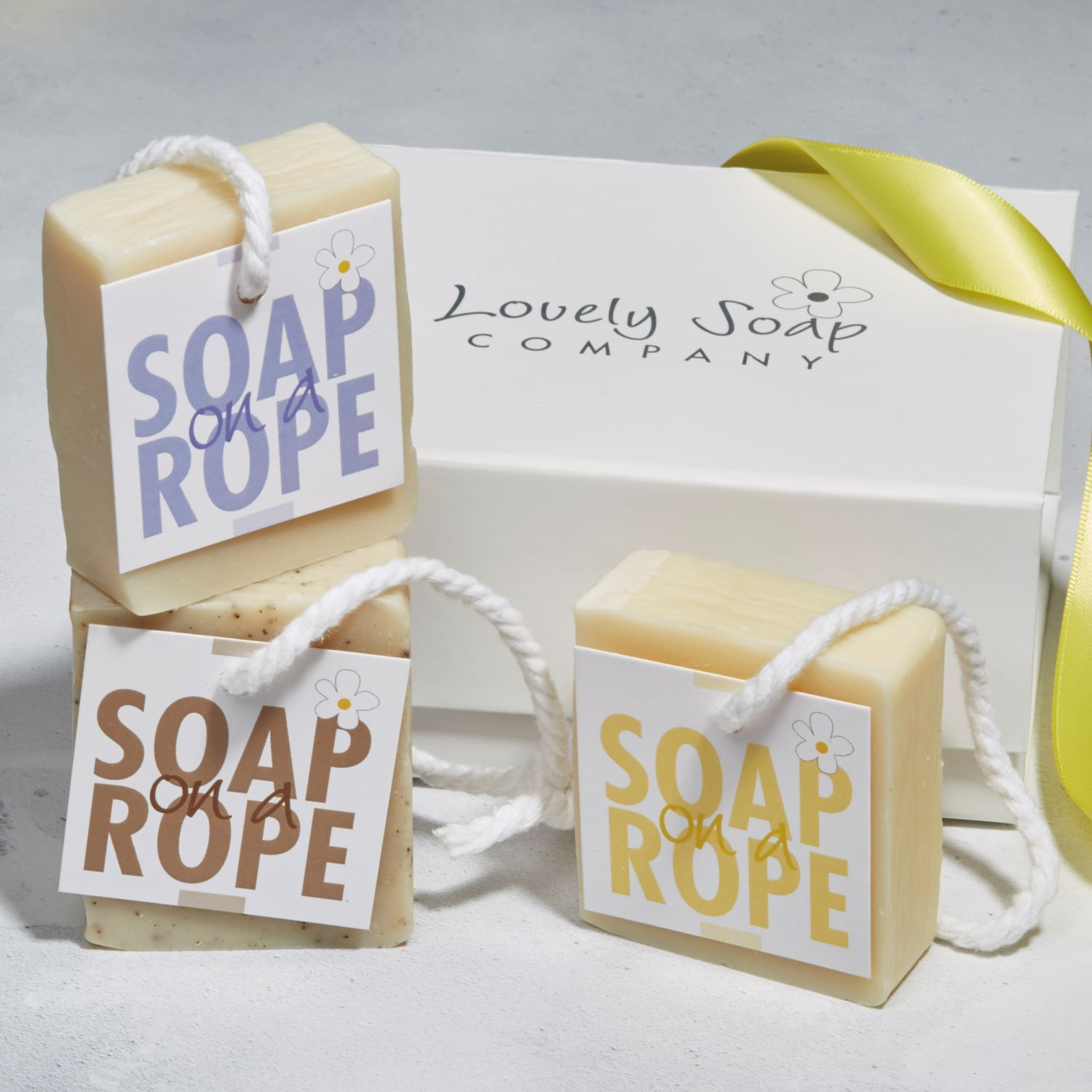 Soap on a rope gift set natural handmade soaps by Lovely Soap Co