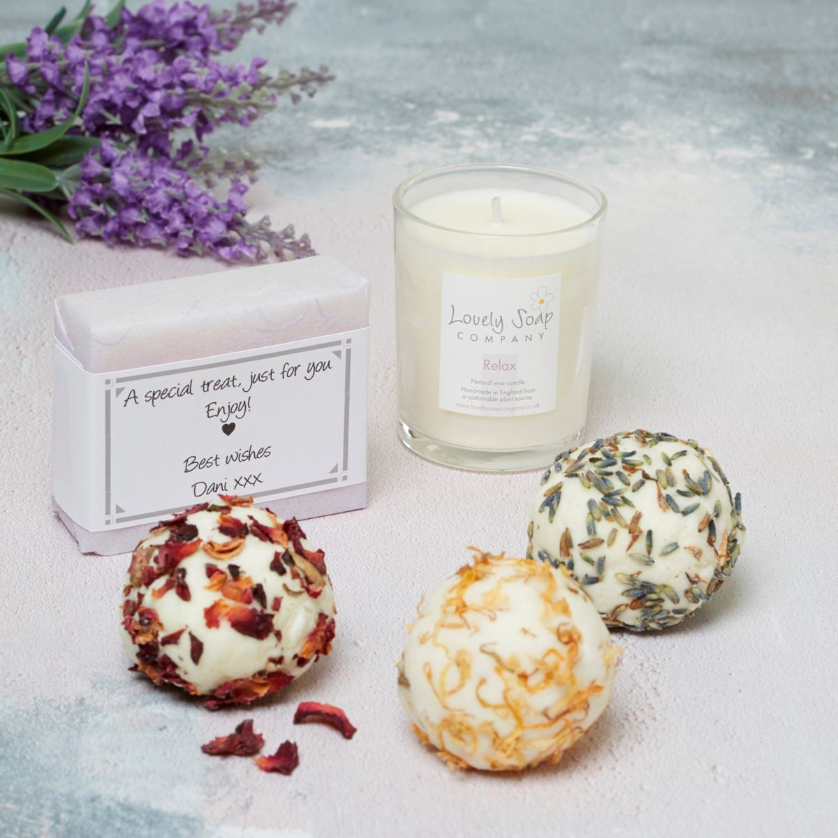 personalised pamper gift by Lovely Soap Co